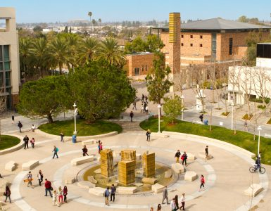 Chapman University piazza