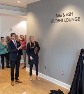 Unveiling of student lounge at Fowler School of Law
