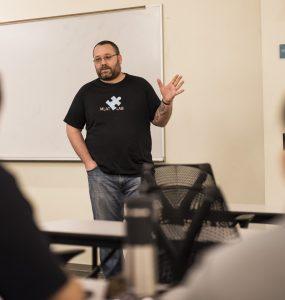 Erik Linstead teaches engineering students.