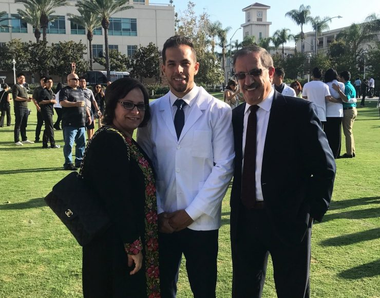 Pharmacy student with parents