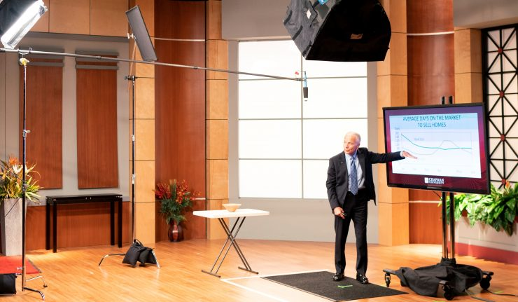 President Emeritus Jim Doti presents the Economic Forecast Update