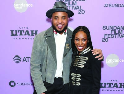 Justin Simien and Elle Lorraine