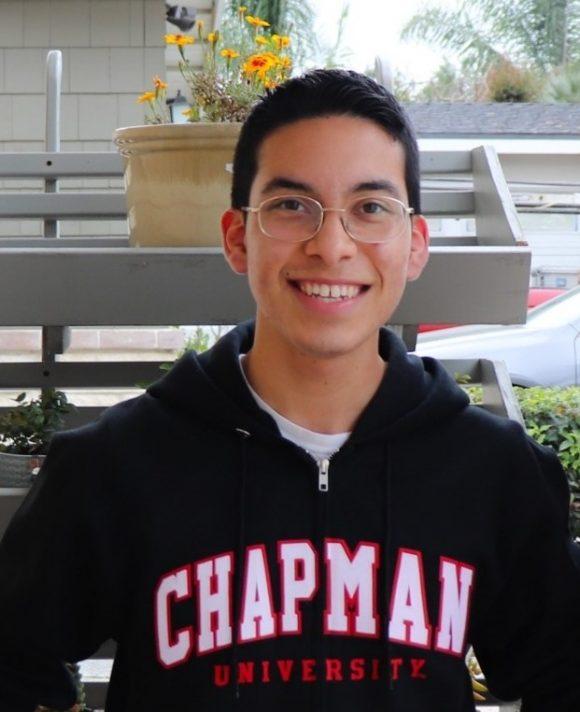 Head shot of incoming Chapman student Luis Avila