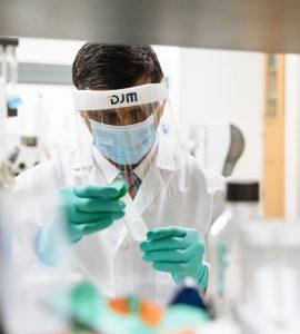 Dr. Tiwari in the lab