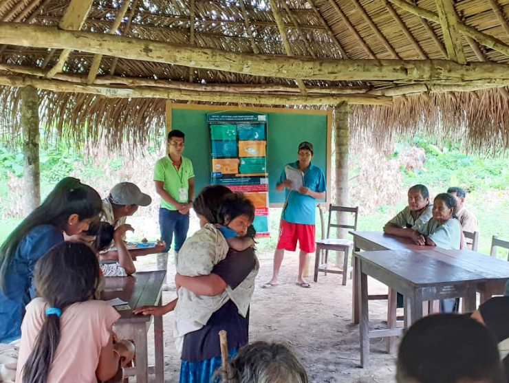 Tsimane villagers meet