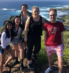 Student researchers in Hawaii