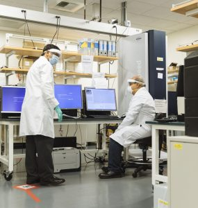 Doctor Parang in lab