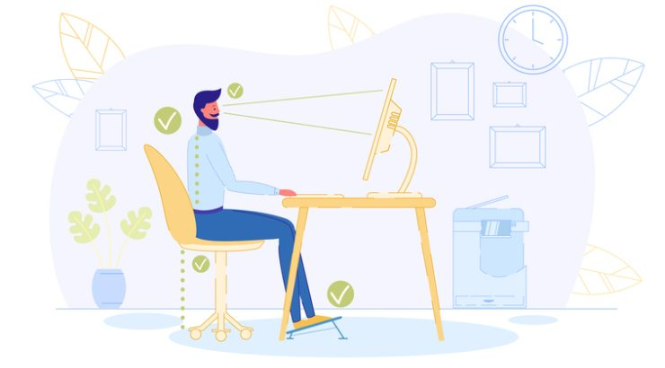 Tips on ergonomic workstation