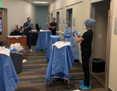 physician assistant students in PPE