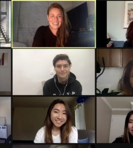 Students gathered in a virtual meeting.