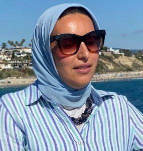 Essraa Nawar at the beach.
