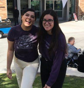 Naveena Chonkaria and Marisa Quezada at Chapman.