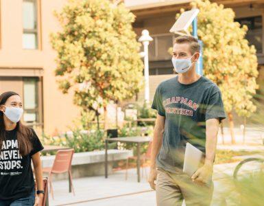 chapman university students wearing face masks