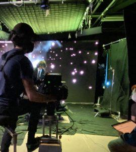 Dodge film students shoot using LED virtual production wall