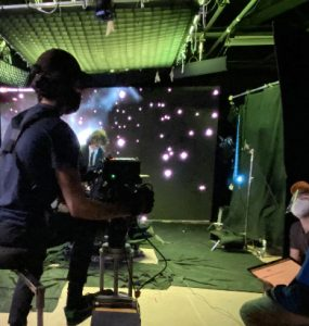 Dodge film students shoot using LED virtual production wall