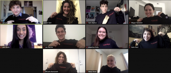 The current editorial board of the Panther poses on Zoom.