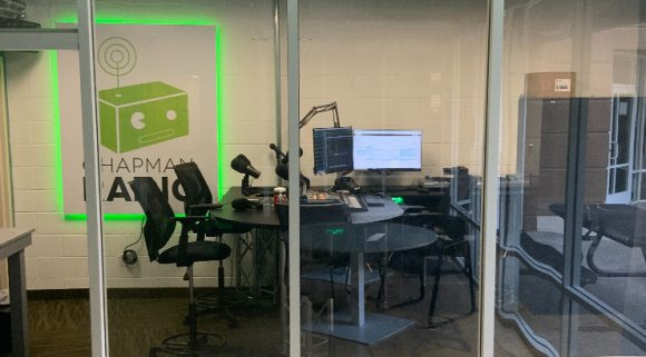Side view of the new studio.