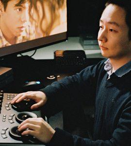 Dodge student edits film.