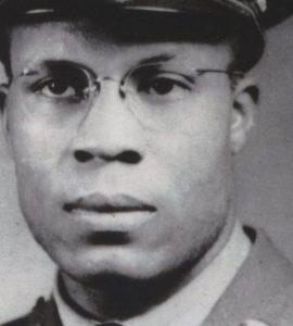 Major in World War II Oscar Mitchell in uniform.