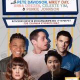 event banner for snl virtual conversation with featured writers and performers