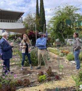 Daniela Struppa and the staff of the Education Farm