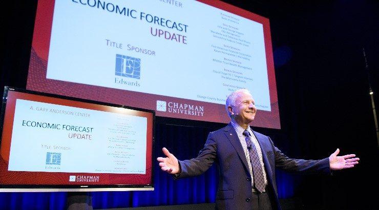 Jim Doti on Musco State presenting forecast update report.