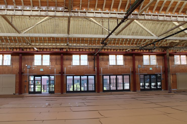 Interior of VPO historic packing house.