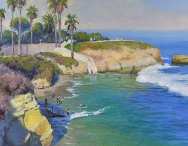 Oil painting of Laguna beach.