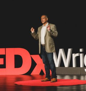 """Jay Kumar delivers TEDx talk TEDxWrigleyville's two night event, """"Humanity: The Repatriation"""""""