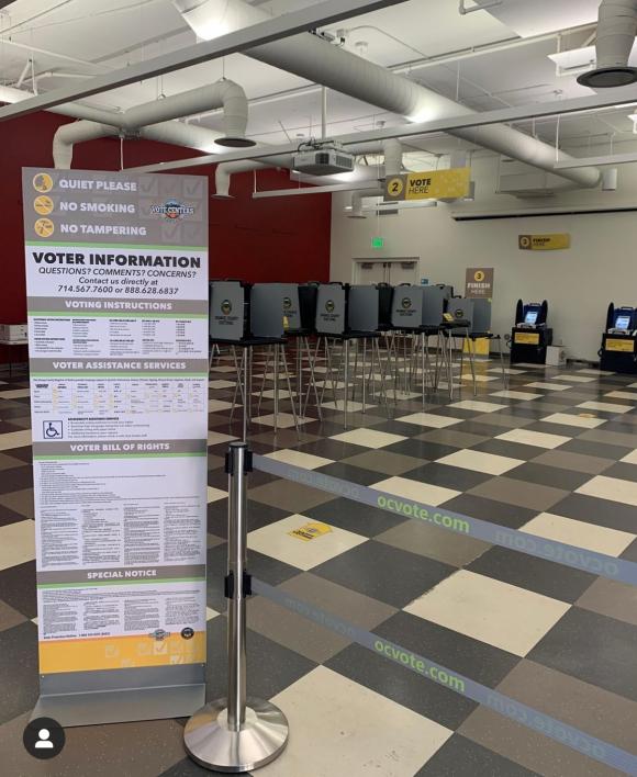 Vote Center at Chapman's Orange Campus.