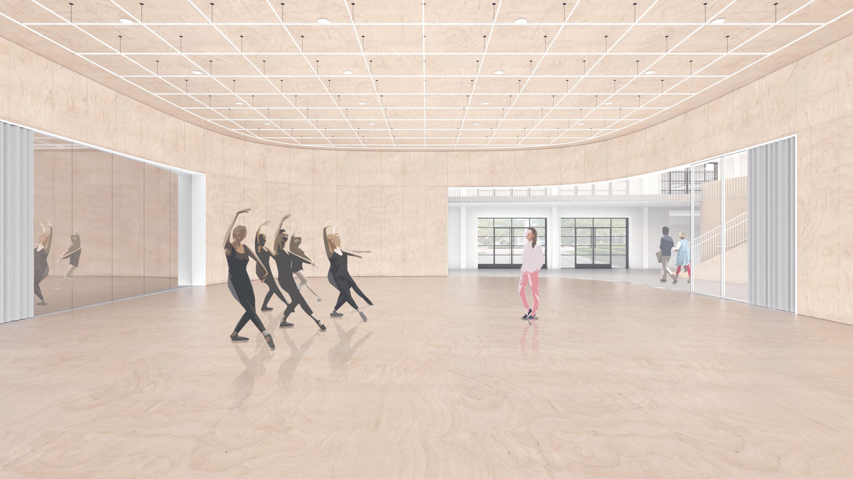 Sandi Simon Center for Dance, artist rendering